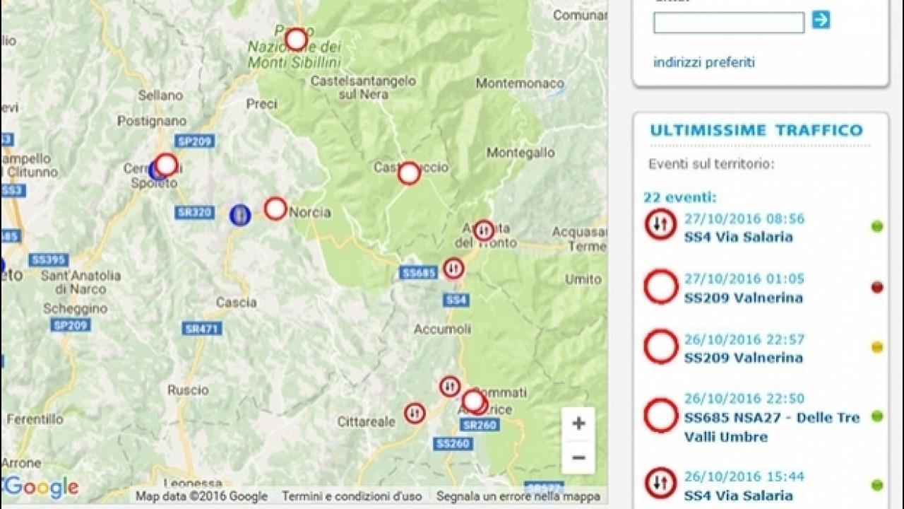 [Copertina] - Terremoto, la situazione della viabilità nel centro Italia