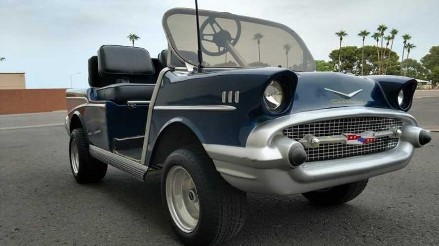 The golf cart inspired by a Chevrolet design legend