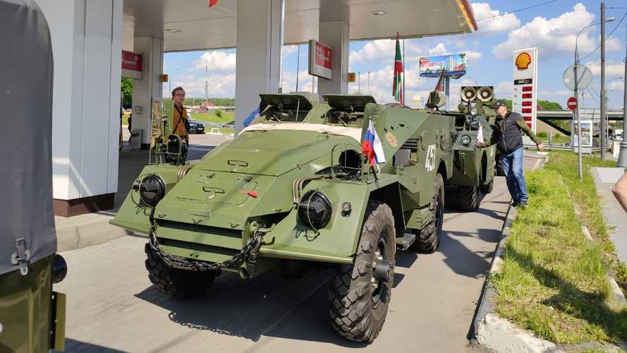 Автопробег на День пограничника в Москве (2020)