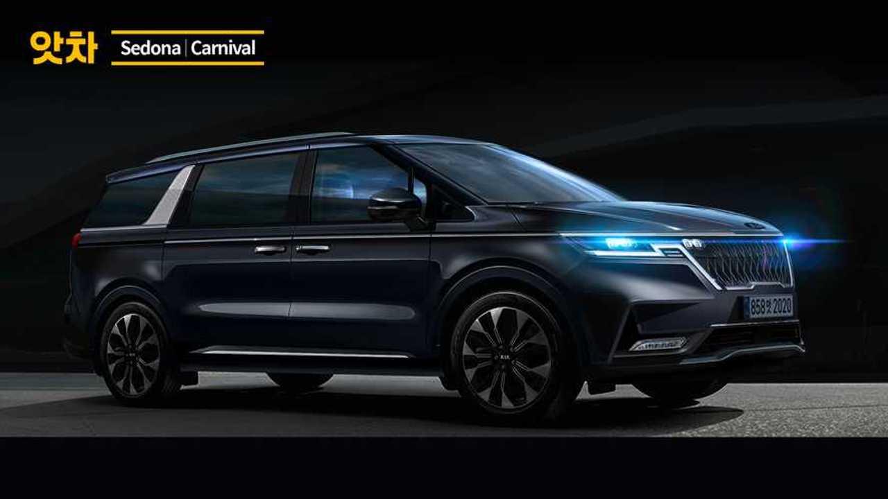 2021 Kia Sedona Renderings Preview An Edgy Minivan