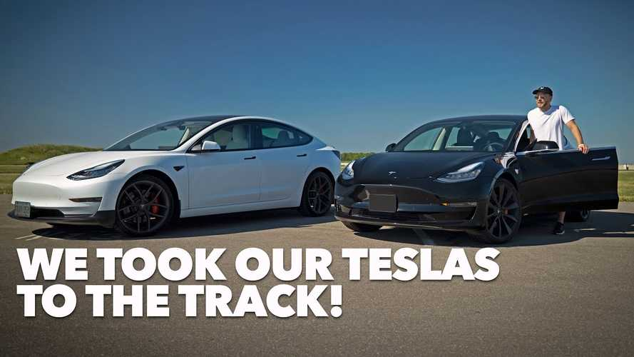 Learning To Drive A Tesla Model 3 At The Track