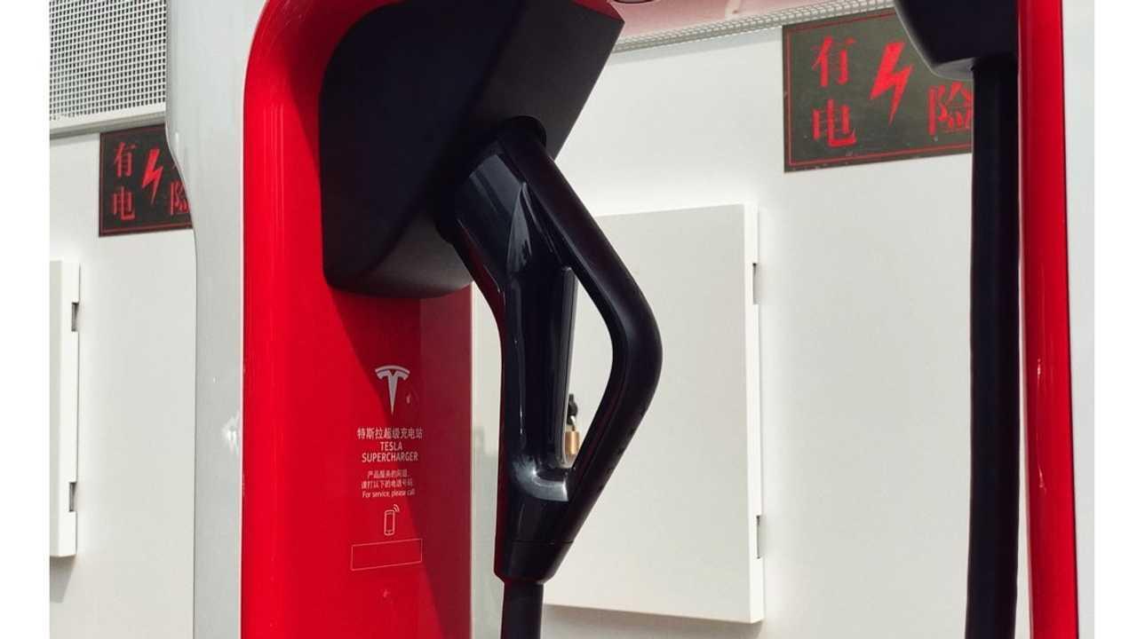 Tesla Supercharging - V3 station in Beijing, China