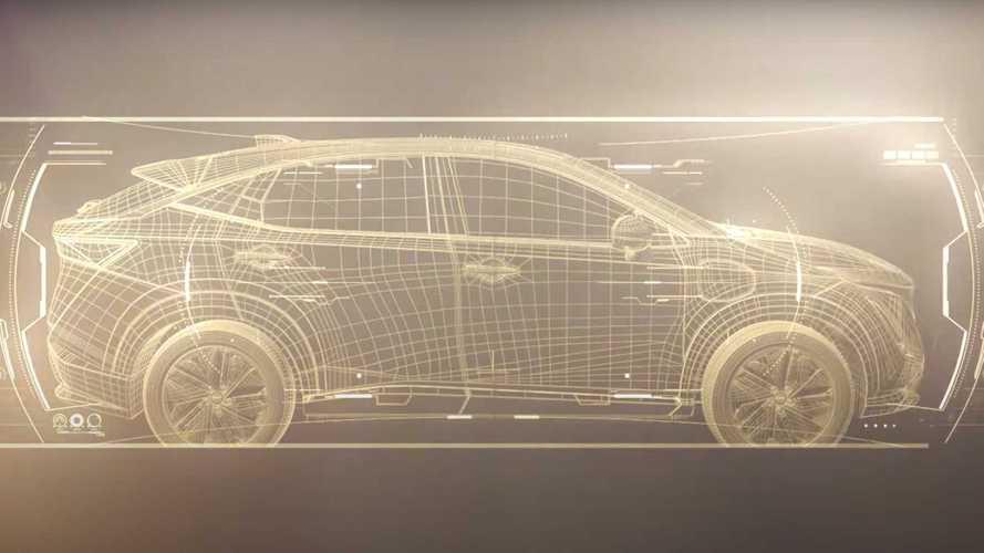 Nissan Ariya, il crossover coupé elettrico si scopre un po' di più