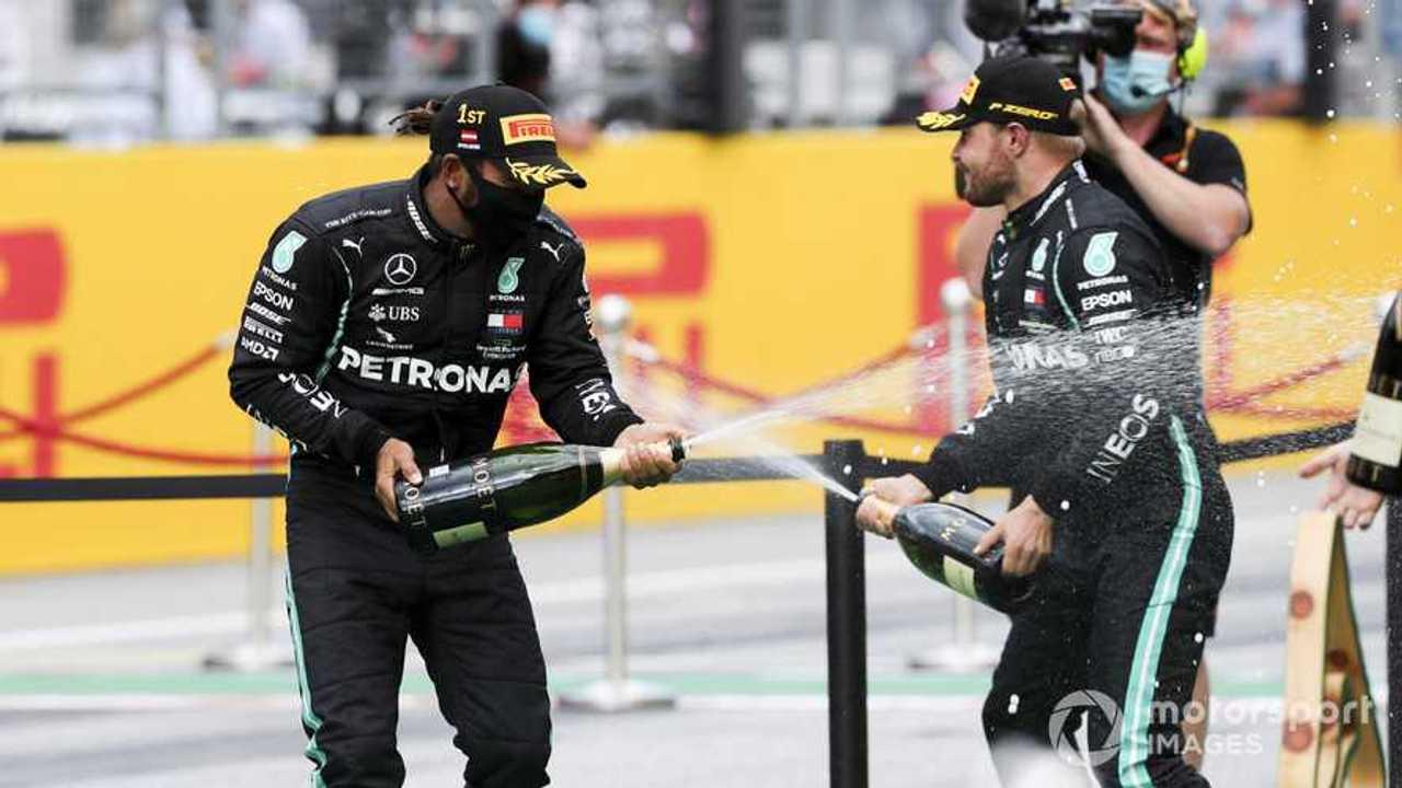 Lewis Hamilton and Valtteri Bottas at Styrian GP 2020