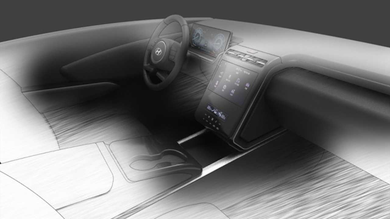 New Hyundai Tucson Interior Sketch