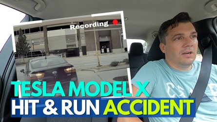 tesla model x hit and run