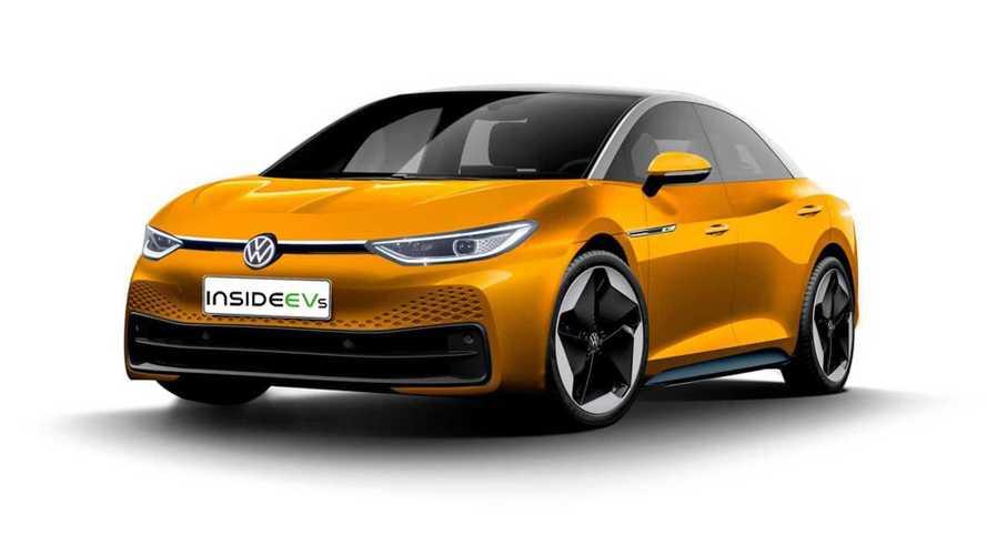 VW ID.5 Limousine als Rendering: Neues Elektro-Topmodell ab 2022?