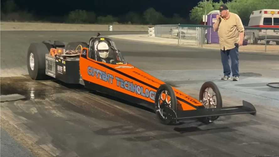 History Has Been Made: Here's The 1st Electric Dragster To Pass 200 MPH