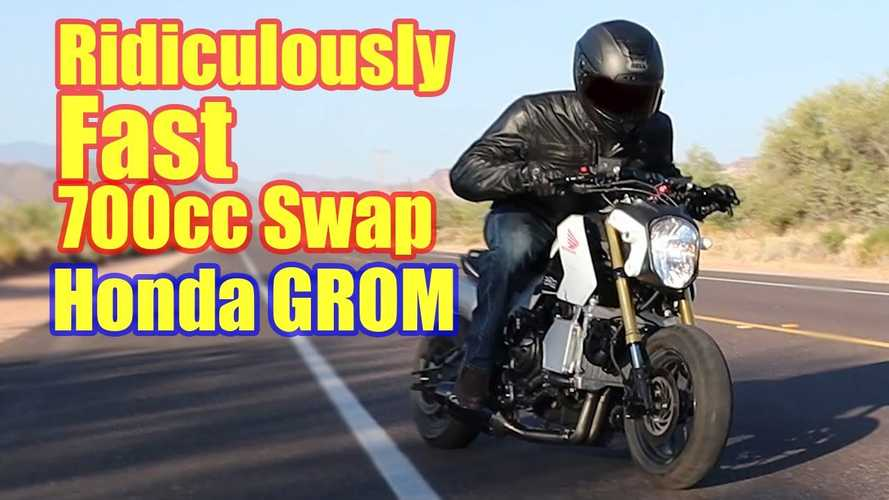 Meet The Grominator, A 700cc Monster Of A Custom Honda Grom