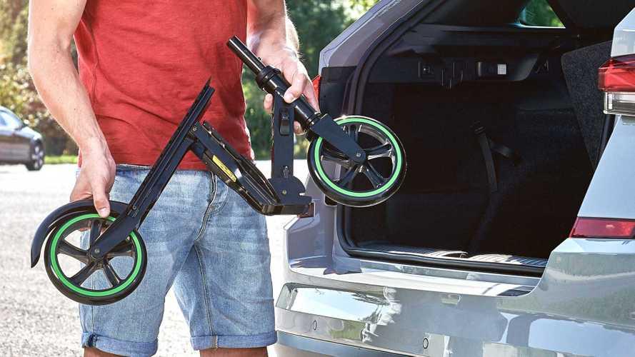 Skoda Scooter: Tretroller für 179 Euro mit speziellem Klappmechanismus