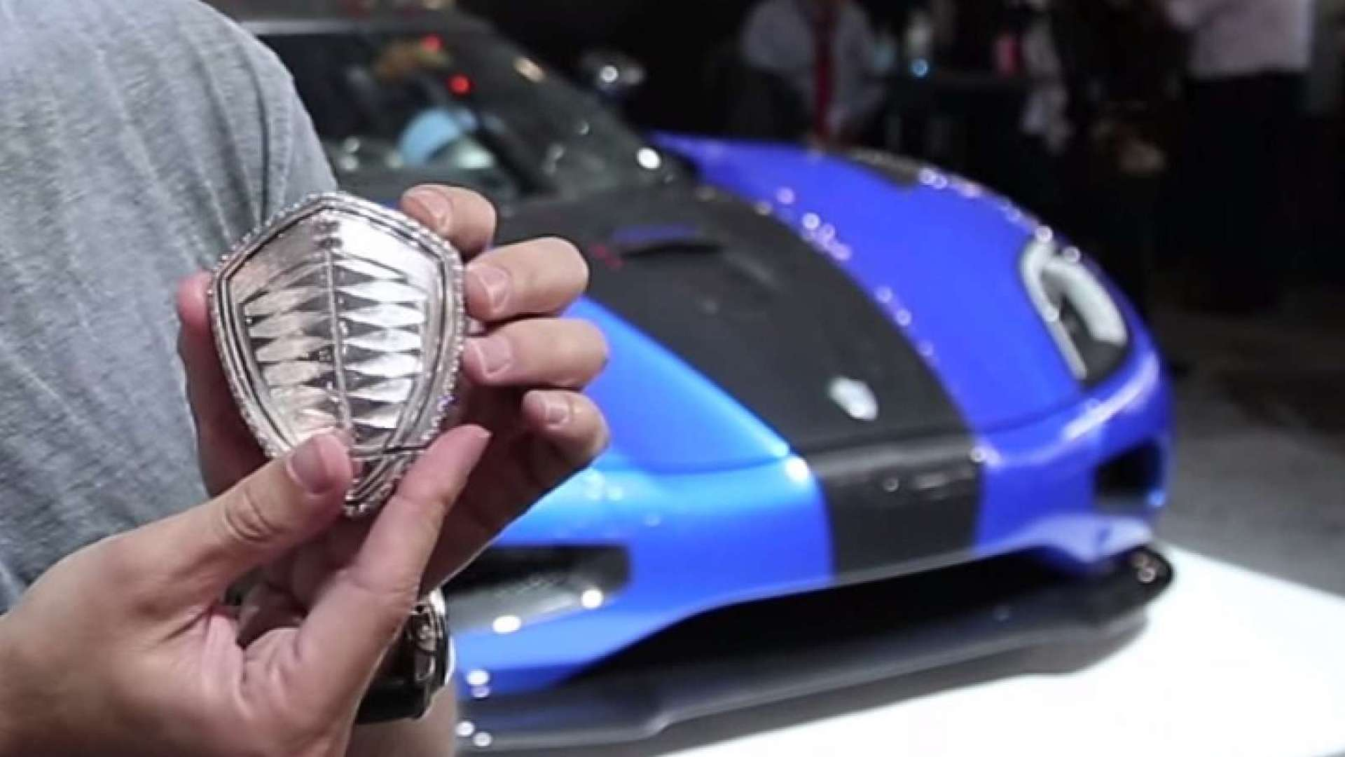this platinum and diamond koenigsegg key costs more than your house