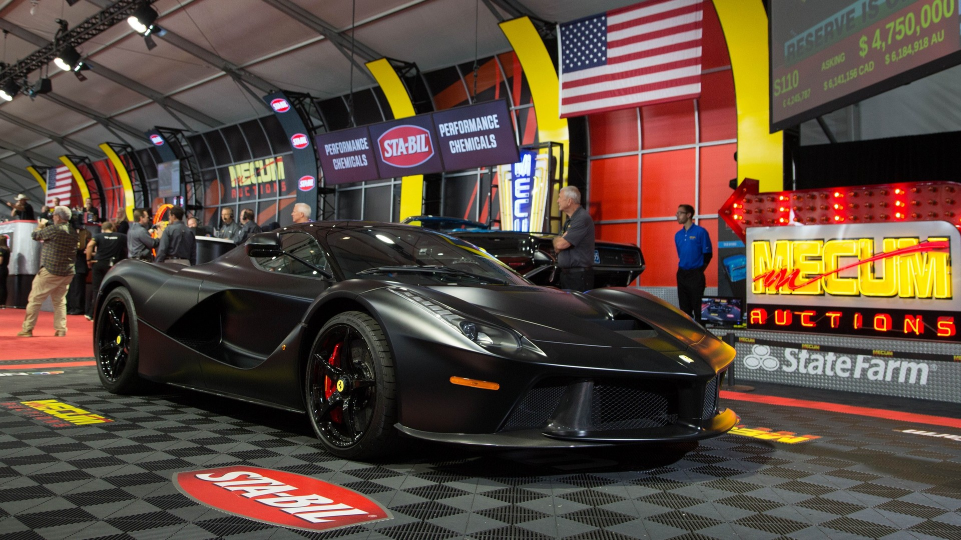 Matte black LaFerrari \u0027horse from hell\u0027 sells for $4.7M at