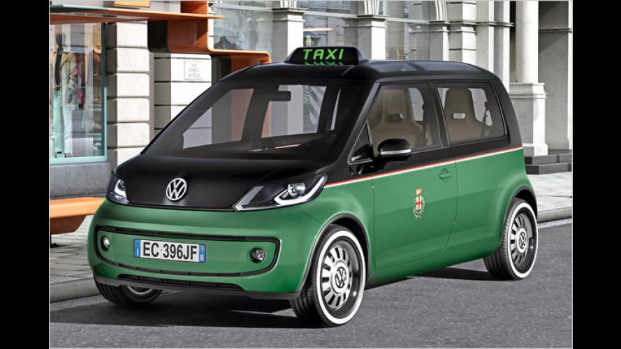 VW zeigt Studie eines Elektro-Taxis