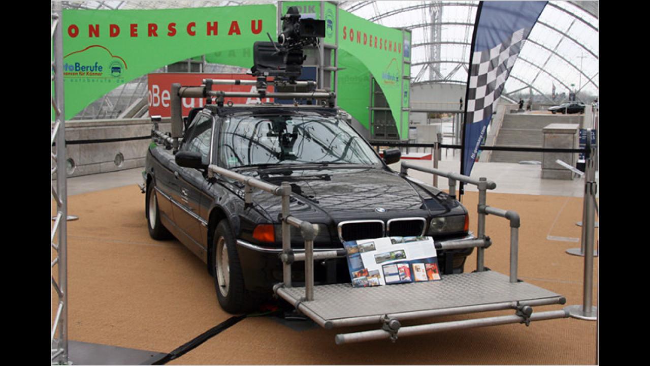 BMW Pick-up Kamerawagen mit Kameraaufbau