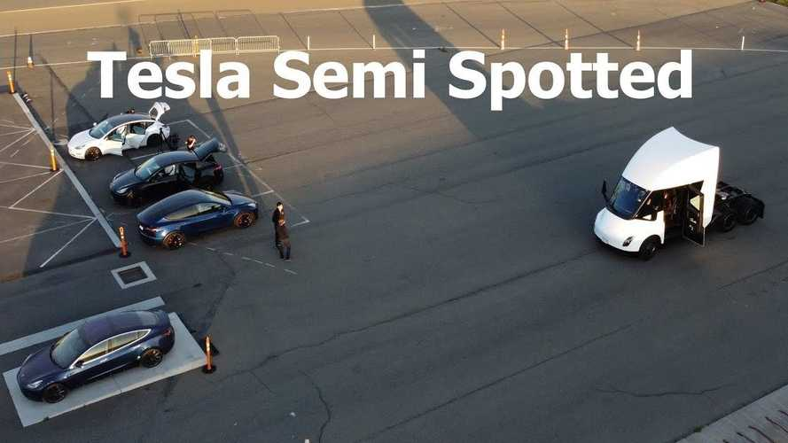 Watch Tesla Semi Spotted On Test Track In Fremont