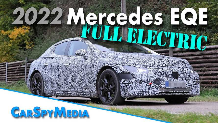 2022 Mercedes-Benz EQE Spied Looking Like A Smaller EQS