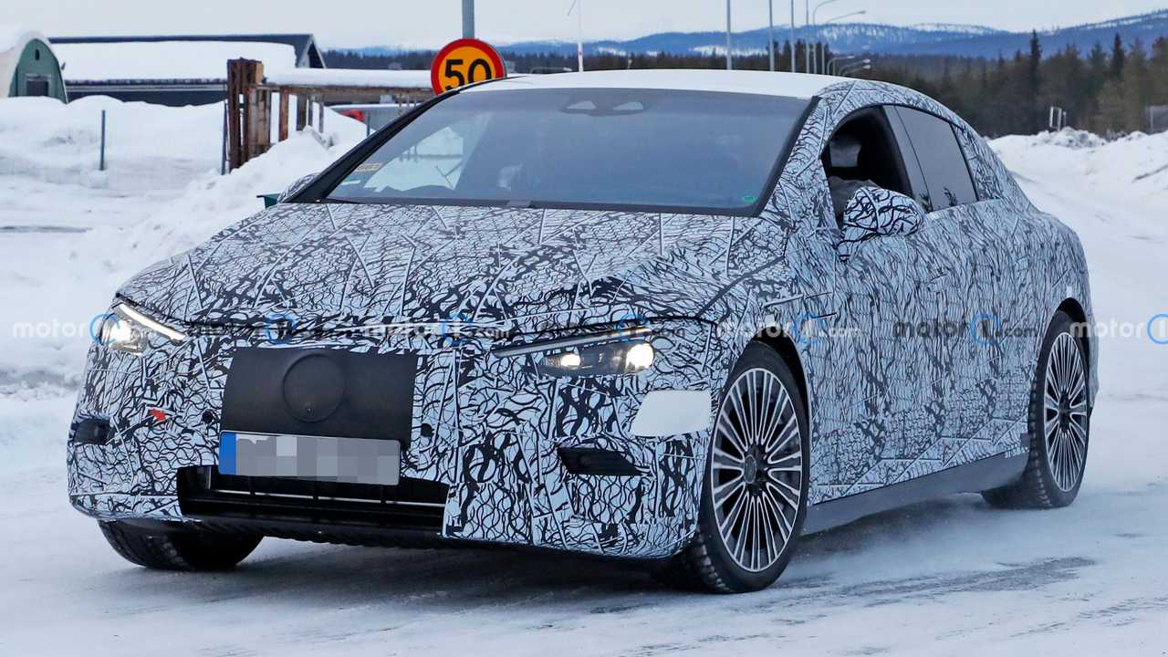 2022 Mercedes EQE electric sedan spy photo