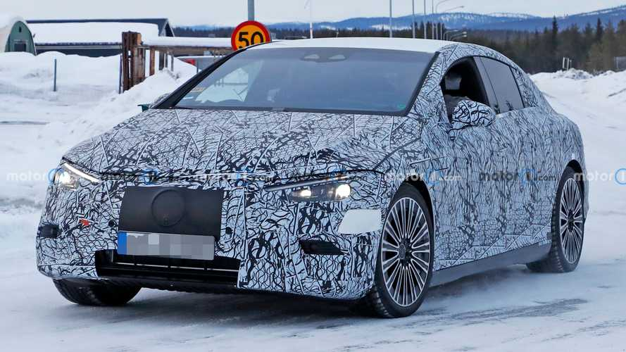 2022 Mercedes EQE Finally Spied With Full Production Look