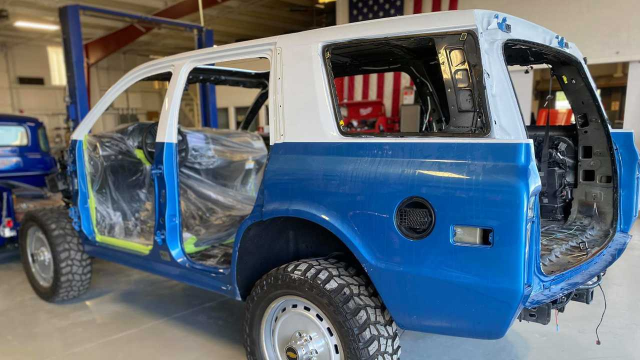 Flat Out Autos is building two-door Chevy K5 Blazer conversion.