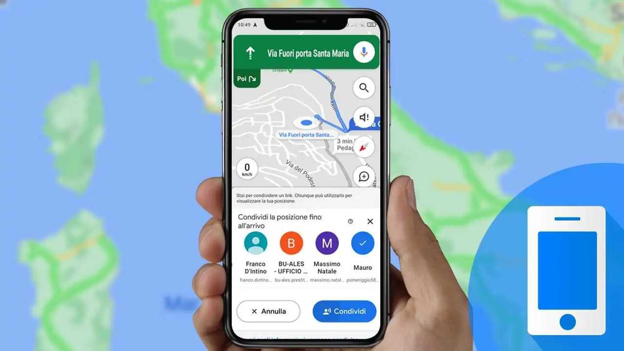 Condivisione posizione Google Maps