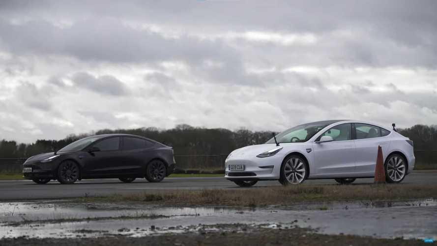 Makyajlı Tesla Model 3, eski versiyonuyla yarışıyor