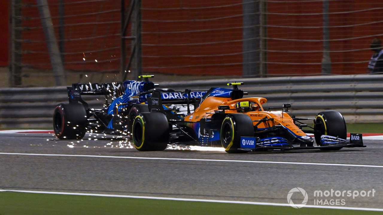 Lando Norris leads Nicholas Latifi at Bahrain GP 2021