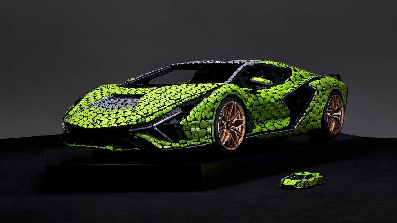 Lamborghini Sian FKP 37 teljes méretű Lego replika