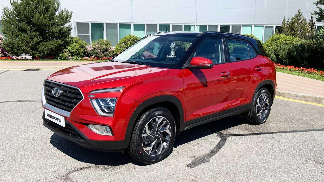 Красная Hyundai Creta второго поколения для России