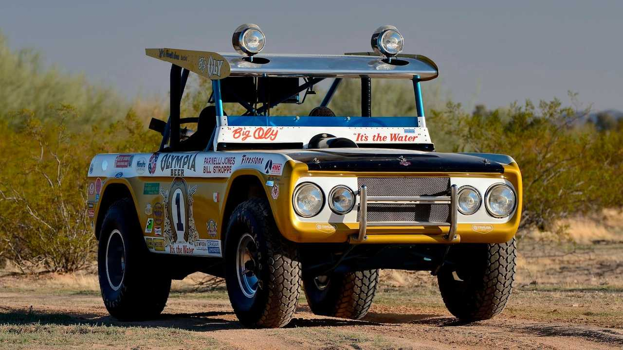 1969 Ford Bronco three quarters from mecum auction