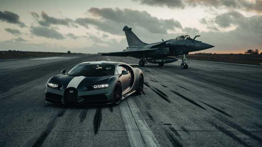 Bugatti Chiron Pur Sport meets Dassault Rafale Marine