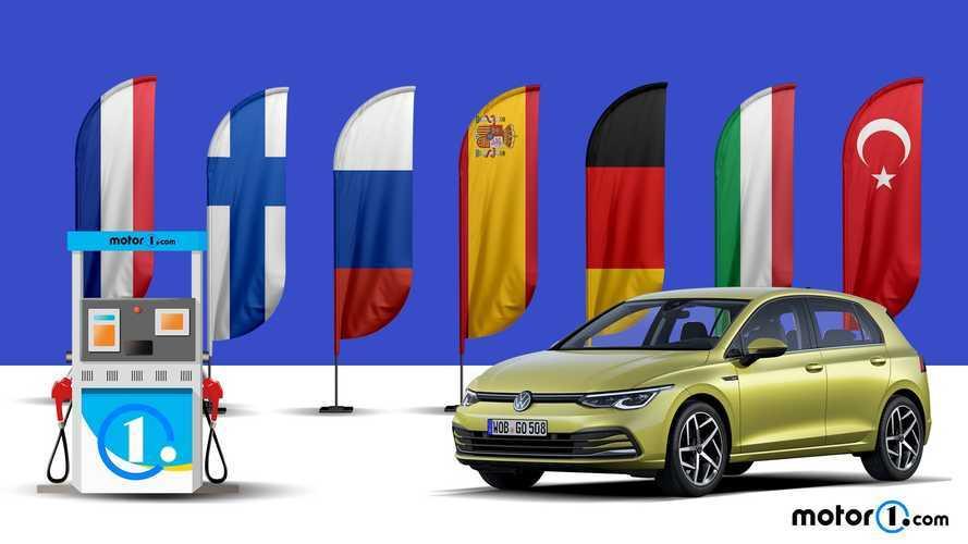 SLIDESHOW | Avrupa'da boş Golf kaç litre benzine denk?