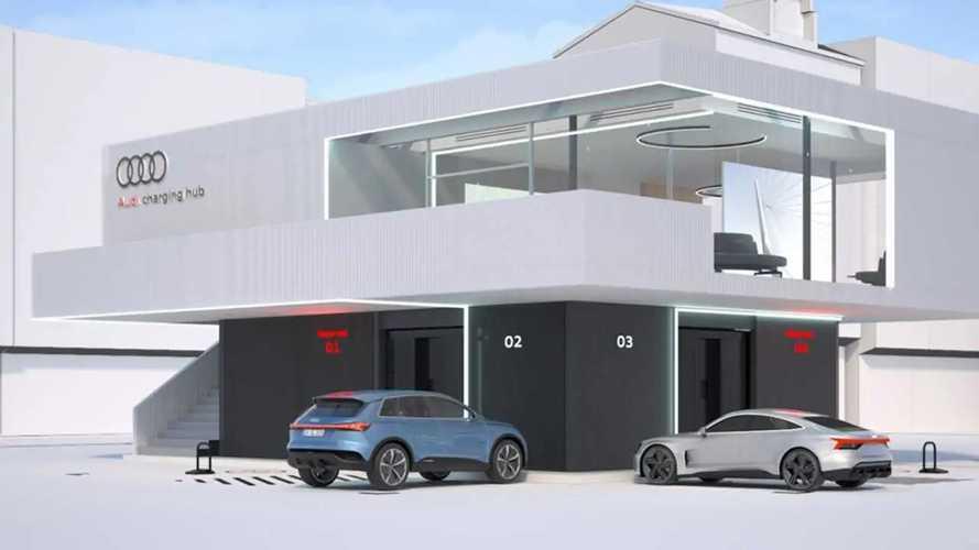 Audi charging hub: Konzept für eine Schnelllade-Lounge