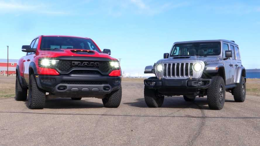 Jeep Wrangler 392 Drag Races Ram TRX In Battle Of  Off-Road Muscles