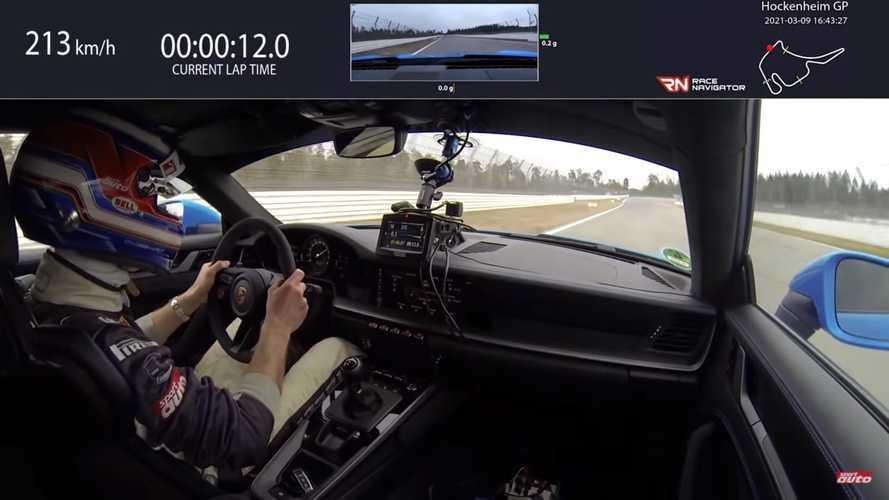 Vidéo - La Porsche 911 GT3 à fond sur le circuit d'Hockenheim
