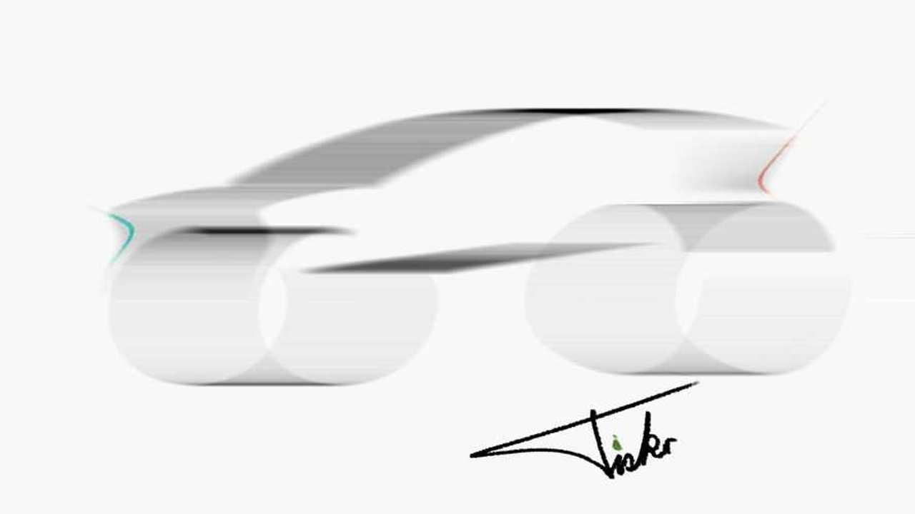 Skizze von Henrik Fisker von dem Elektroauto, das zusammen mir Foxconn entstehen soll