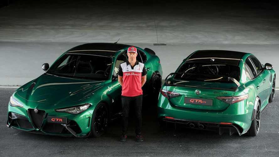 Kimi Räikkönen et l'Alfa Romeo Giulia GTA