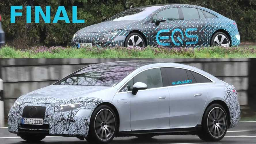 See The Least Camouflaged Mercedes-Benz EQS Prototype In Motion