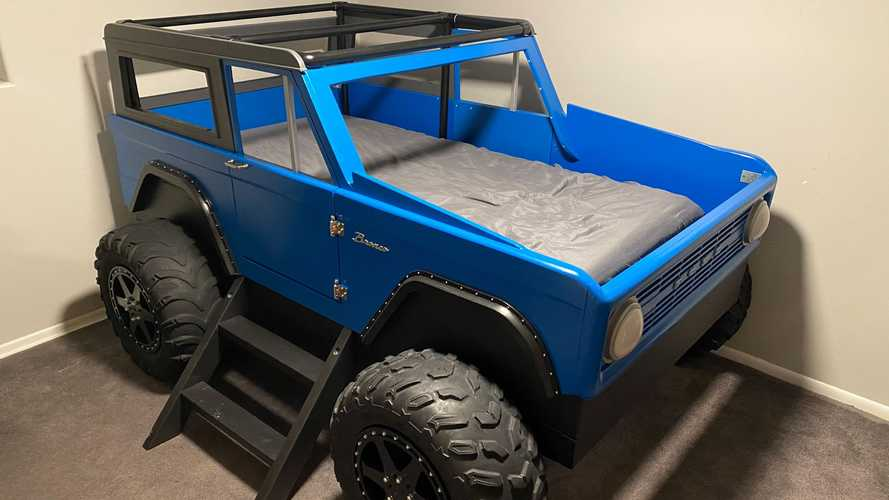 Kid With Ford Bronco-Obsessed Father Gets Greatest Bed Ever Made