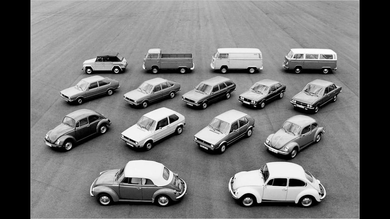 VW-Modellpalette (1975)