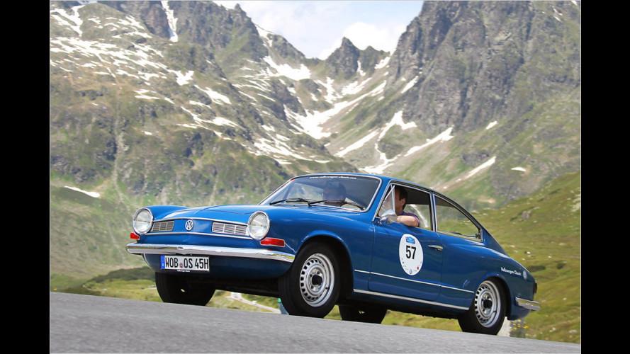 Im Karmann Ghia TC 145 durch die Alpen