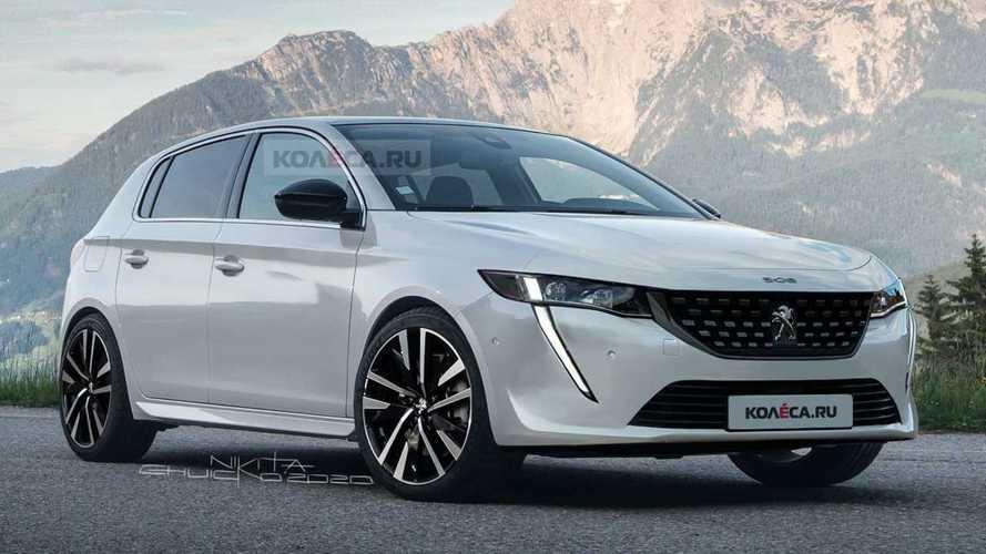 Projeção: Novo Peugeot 308 2022 terá visual inspirado no 208