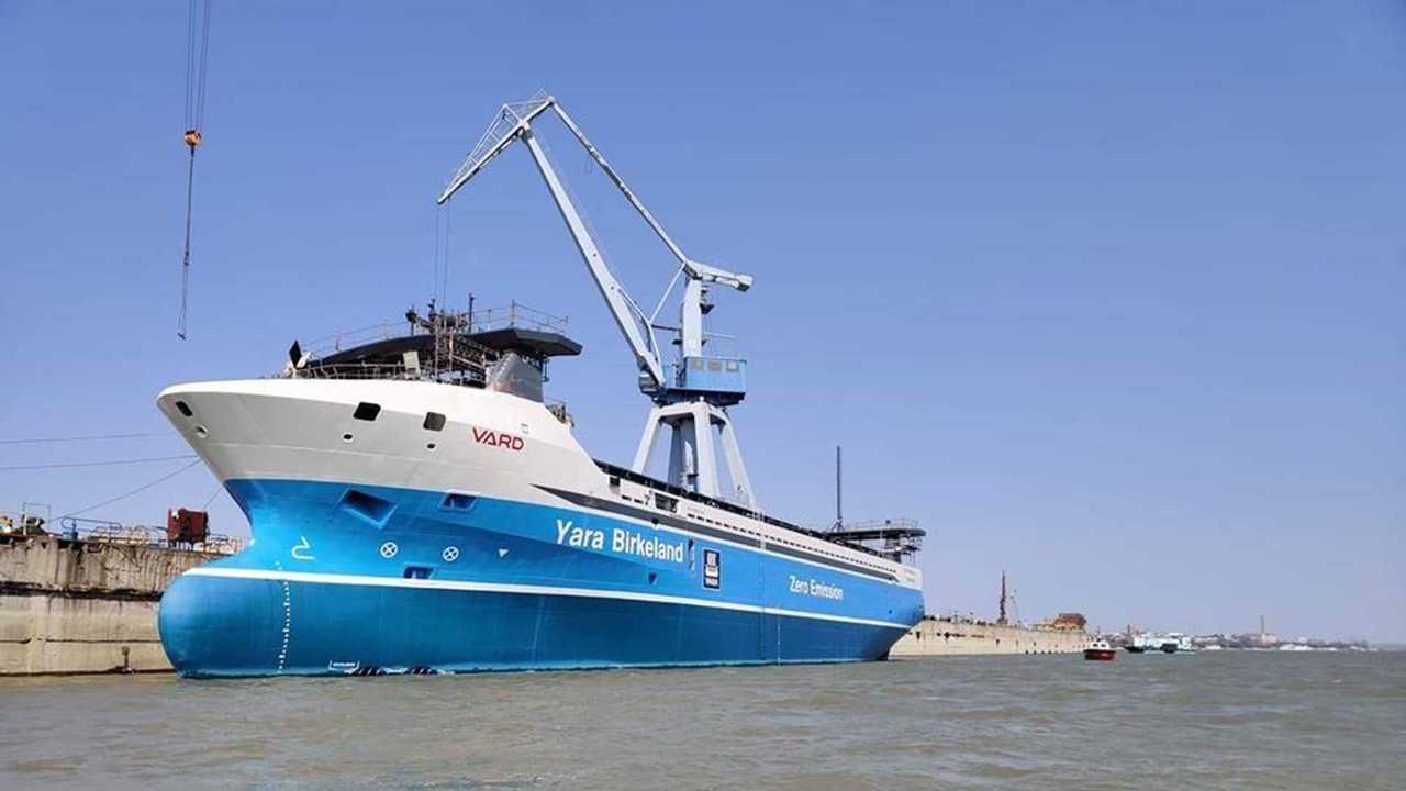 La Yara Birkeland, prima nave elettrica per il trasporto merci a guida autonoma
