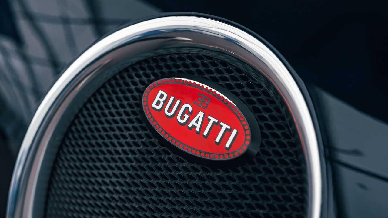 Bugatti Badge Up Close