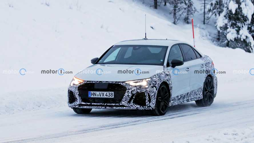 Photos espion Audi RS 3 Berline - Janvier 2021