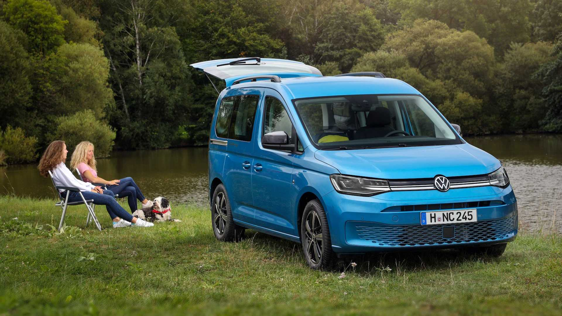 2021 VW Caddy California Is A Small Camper With Bed, Pull ...