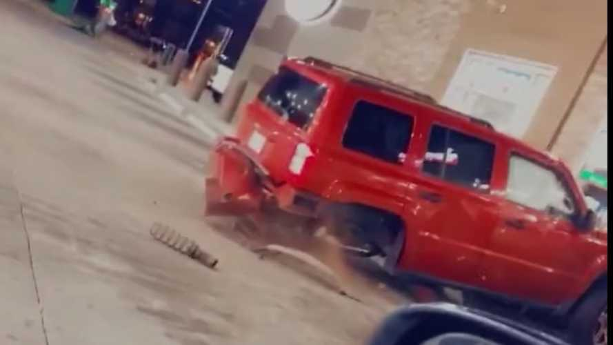 Watch This Ford Super Duty Absolutely Destroy A Jeep By Trying To Tow It