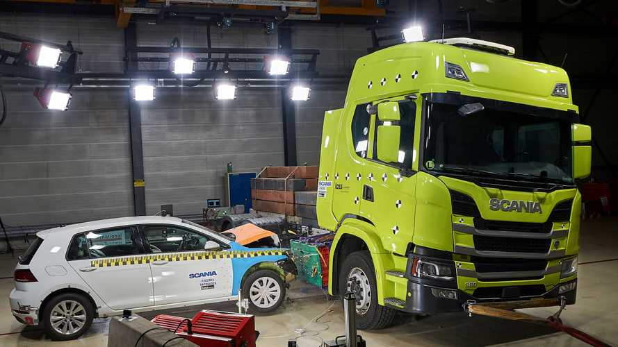See Scania Sacrifice VW Golf In The Name Of EV Safety Research