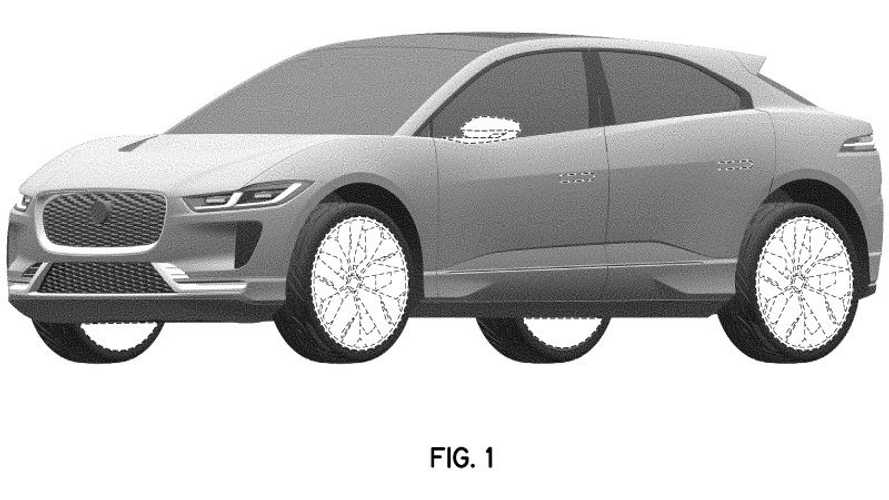Jaguar I-Pace Refresh Design Trademark Rendering