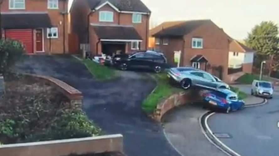 Porsche Taycan hits two cars in parking manoeuvre gone terribly wrong in UK