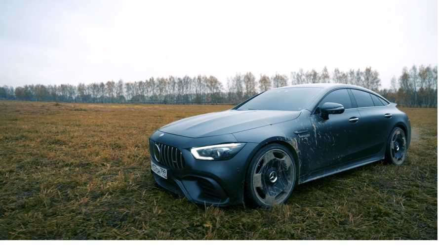 L'incredibile incendio della Mercedes-AMG 63 S GT Coupé4
